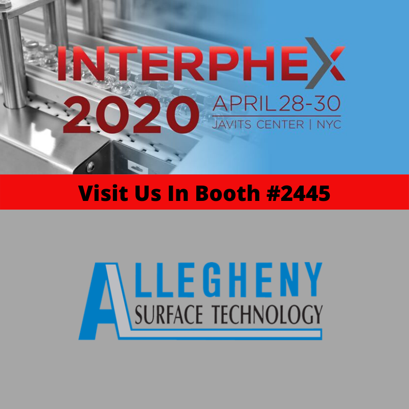 Visit AST in booth 2445 at INTERPHEX 2020. Register now and save $80 image